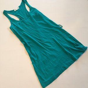 Size small teal pocket mini dress